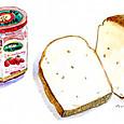 食パンといちごジャム