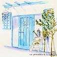 青い扉のカフェ