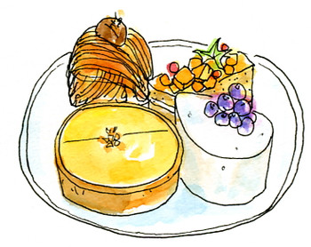 アンリ・シャルパンティエのケーキ