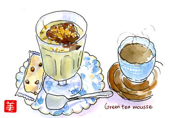 パピエの抹茶ムース