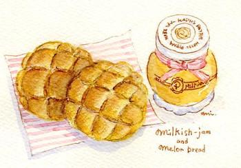 メロンパンとミルキッシュジャム