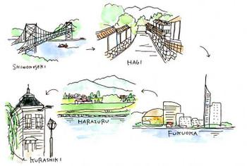 萩・原鶴・倉敷の旅